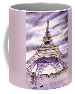 Evening In Paris A Walk To The Eiffel Tower Coffee Mug