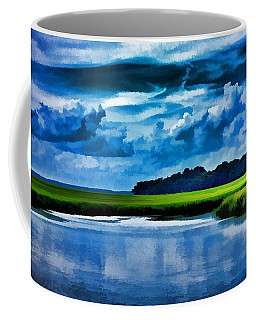 Evening On The Marsh Coffee Mug by Ludwig Keck