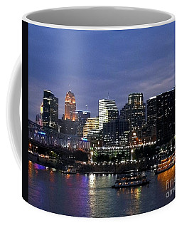 Coffee Mug featuring the photograph Evening On The River by Mel Steinhauer