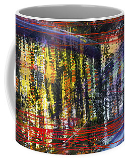 Evening Pond By A Road Coffee Mug