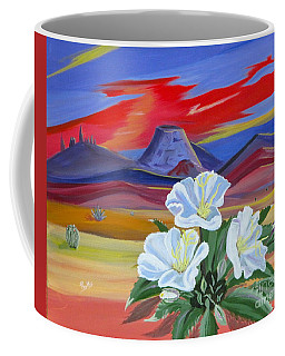 Coffee Mug featuring the painting Evening Primrose by Phyllis Kaltenbach