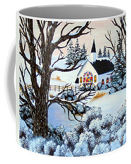 Coffee Mug featuring the painting Evening Services by Barbara Griffin