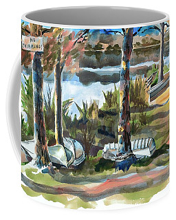 Coffee Mug featuring the painting Evening Shadows At Shepherd Mountain Lake  No W101 by Kip DeVore