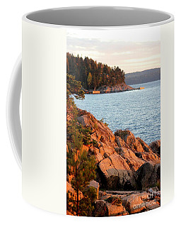 Evening Sun By The Waterfront Coffee Mug