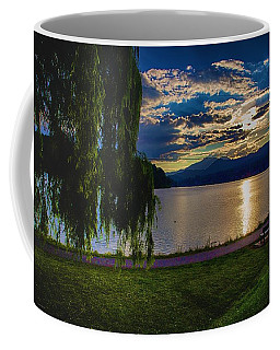Evening Sun Kisses Lake One Last Time Coffee Mug