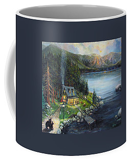 Evening Visitors Coffee Mug by Donna Tucker