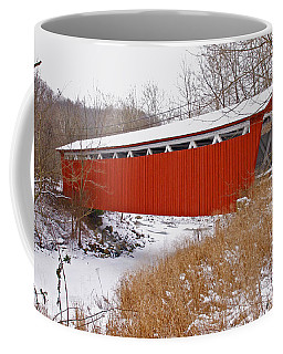 Everett Rd. Covered Bridge In Winter Coffee Mug