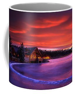 Evergreen Lake Sunrise Coffee Mug