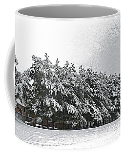 Coffee Mug featuring the photograph Evergreens In Snow by Luther Fine Art