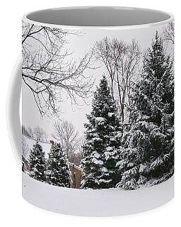 Evergreens In The Snow Coffee Mug