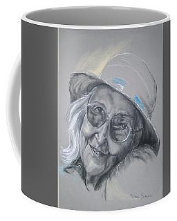 Coffee Mug featuring the drawing Everybodys Grandma by Peter Suhocke