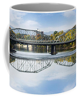 Coffee Mug featuring the photograph Exchange St. Bridge Rock Bottom Dam Binghamton Ny by Christina Rollo