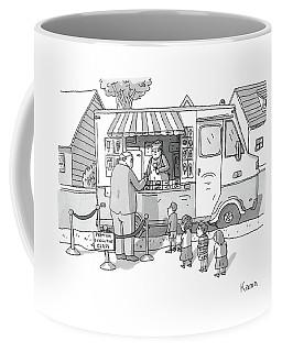 Exec Cuts Children In Line For Ice Cream Coffee Mug