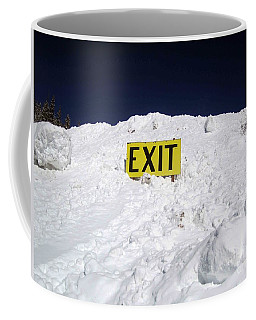 Coffee Mug featuring the photograph Exit by Fiona Kennard