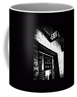 Coffee Mug featuring the photograph Exit Number Two by Cleaster Cotton