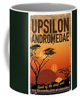 Exoplanet 06 Travel Poster Upsilon Andromedae 4 Coffee Mug