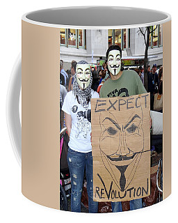 Coffee Mug featuring the photograph Expect Revolution by Ed Weidman