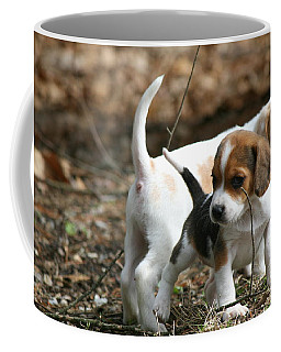 Exploring Beagle Pups Coffee Mug