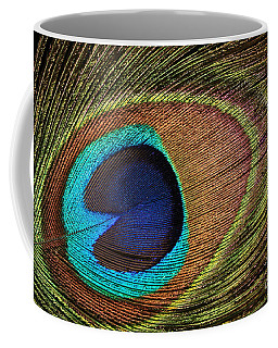 Eye Of The Peacock Coffee Mug by Judy Whitton