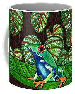 Coffee Mug featuring the painting Eye On You by Laura Forde