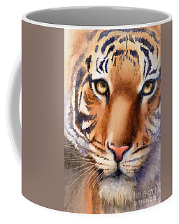 Coffee Mug featuring the painting Eyes Of The Tiger by Bonnie Rinier