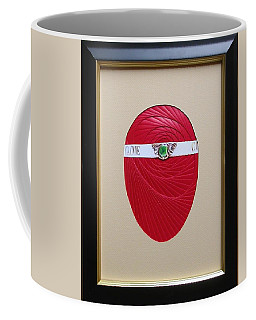 Coffee Mug featuring the mixed media Faberge Egg 1 by Ron Davidson