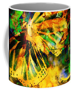 Face In The Rock Conjures Leaves Into Butterfly Coffee Mug