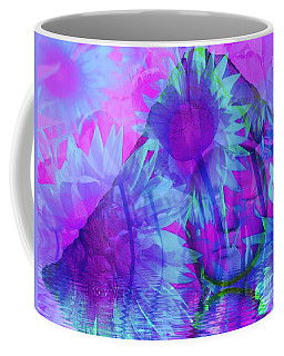 Face In The Rock Dreams Of Sunflowers Coffee Mug