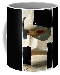Coffee Mug featuring the painting Face On by Joan Reese