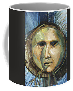 Faced With Blue Coffee Mug