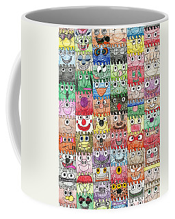 Faces Puzzle Poster Coffee Mug