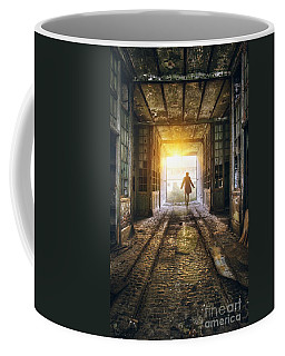 Factory Chase Coffee Mug by Carlos Caetano
