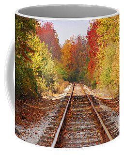 Fading Tracks Coffee Mug