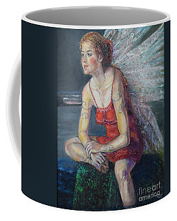Fairy On A Stone Coffee Mug