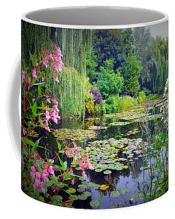 Fairy Tale Pond With Water Lilies And Willow Trees Coffee Mug