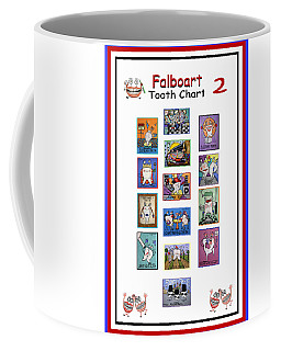 Coffee Mug featuring the painting Falboart Tooth Chart Number 2 by Anthony Falbo