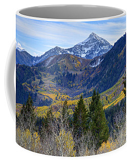 Fall At Cascade Peak And Sundance From Alpine Loop  Coffee Mug