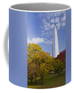 Fall At The St Louis Arch Coffee Mug