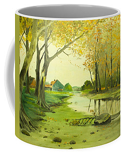 Fall By The Stream By Merlin Reynolds Coffee Mug