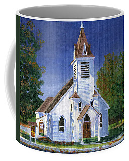 Fall Church Coffee Mug