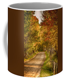 Coffee Mug featuring the photograph Fall Color Along A Peacham Vermont Backroad by Jeff Folger