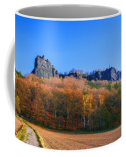 Fall Colors Around The Lilienstein Coffee Mug