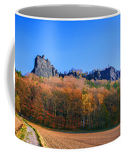 Fall Colors Around The Lilienstein Coffee Mug