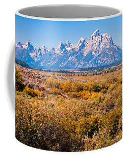 Fall Colors In The Tetons   Coffee Mug