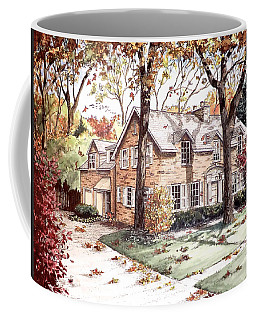 Fall Home Portriat Coffee Mug