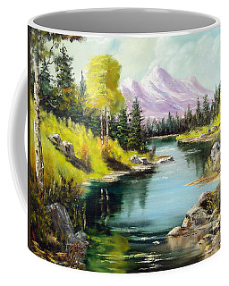 Fall In The Rockies Coffee Mug by Lee Piper