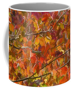 Coffee Mug featuring the photograph Fall Maple Colors by Beth Sawickie