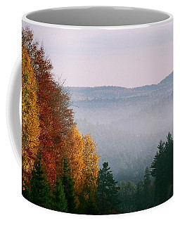 Coffee Mug featuring the photograph Fall Morning by David Porteus