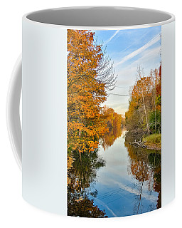 Coffee Mug featuring the photograph Fall On The Red Cedar  by Lars Lentz