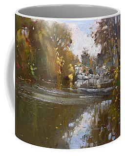 Fall Reflections At North Tonawanda Canal Coffee Mug